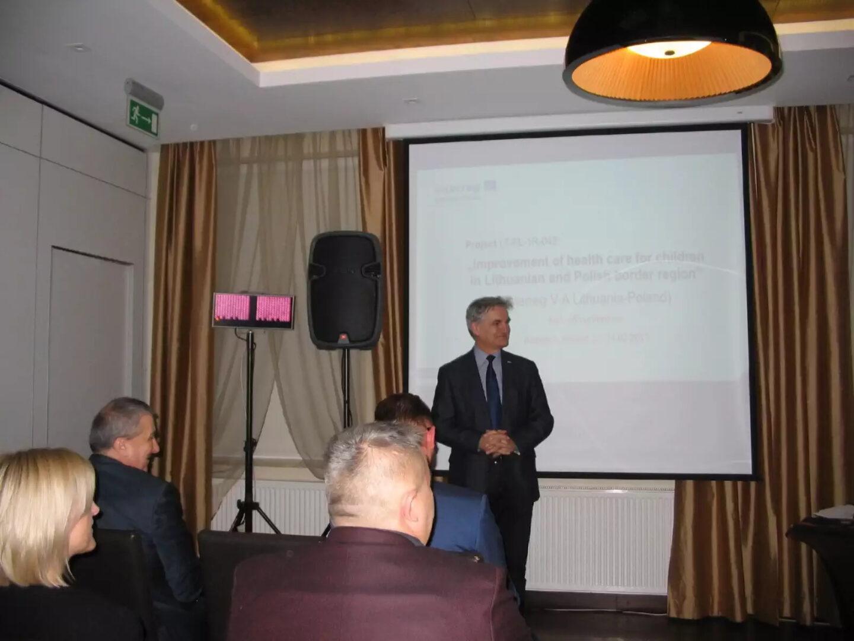 """Konferencja projektu LT-PL-1R-042: """"Poprawa opieki zdrowotnej nad dziećmi w regionie przygranicznym Litwy i Polski"""""""