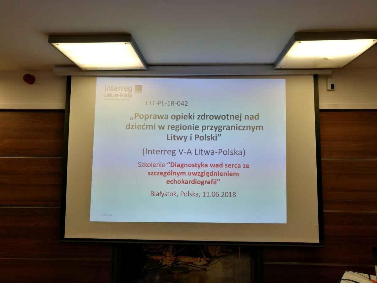 Projekt LT-PL-1R-042: szkolenia dotyczące wybranych problemów zdrowotnych i metod terapii dzieci